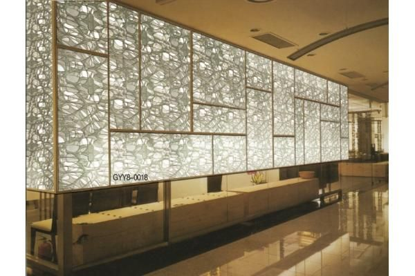 Los paneles decorativos teñidos/división del vidrio laminado para ...
