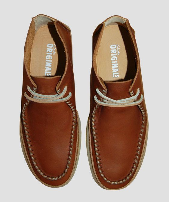 be5b3c72d0a Clarks Originals Vulco Spear Brown Leather