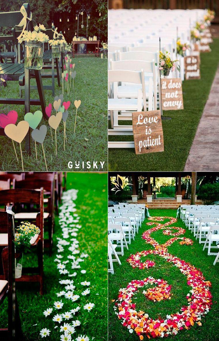 Las bodas al aire libre en parques y jardines, convierten tu boda en un lugar único y romántico. Ideas para decorar bodas al aire libre.