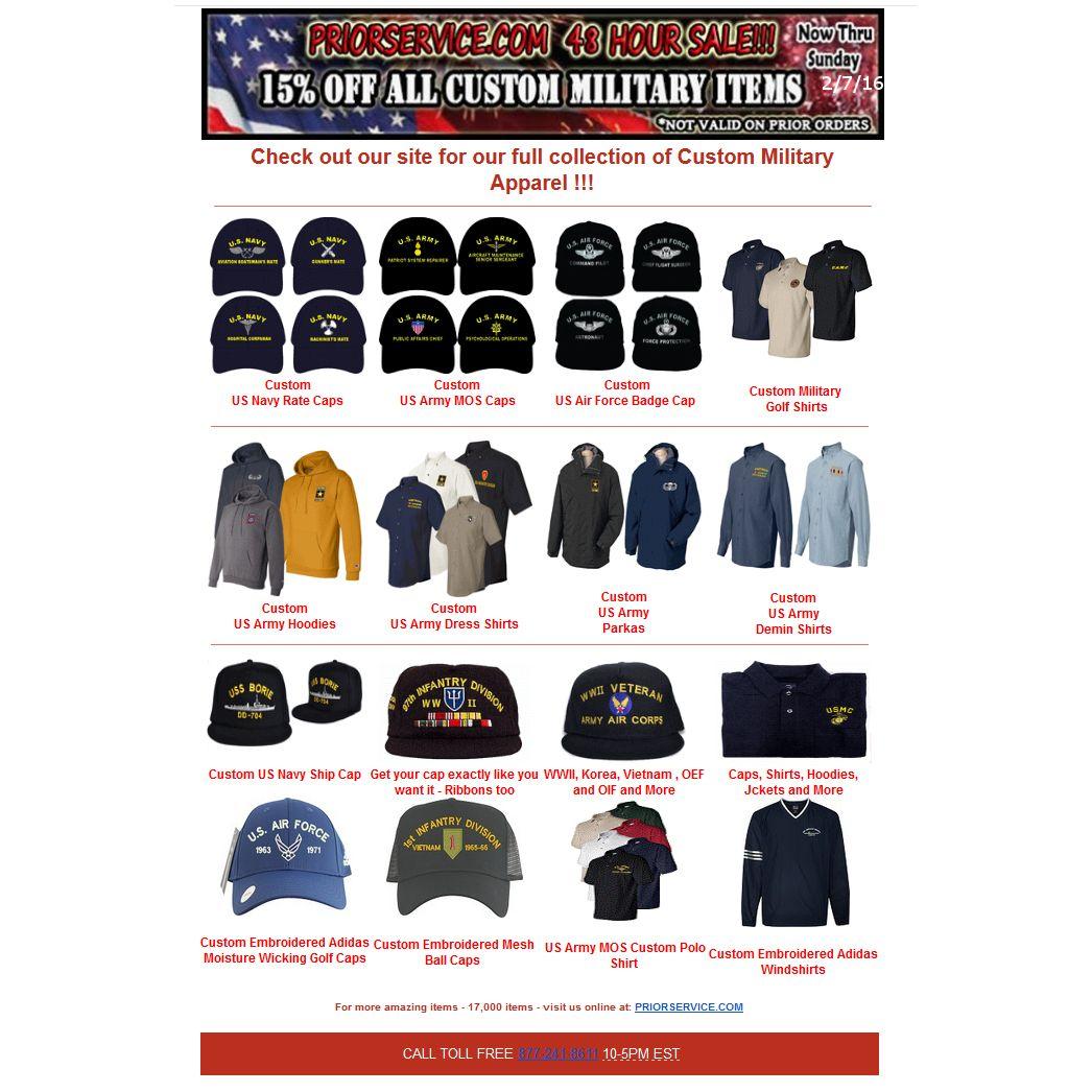 Custom Sale! 15 Off all Custom Caps, Shirts, Sweatshirts