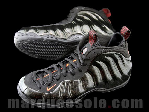 Sz 12.5 Nike Air Foamposite One Mini Swoosh Black Metallic ...
