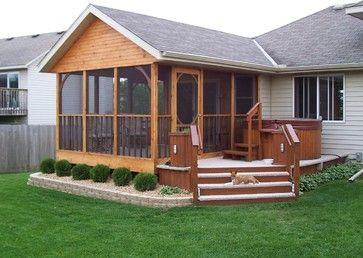 3 Season Porch Design Ideas Pictures Remodel And Decor Porch Design Manufactured Home Porch Rustic Porch