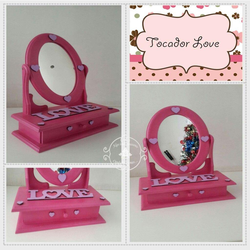 Espejo tocador peque o ideal para ni as pintado a mano - Tocador pequeno ...