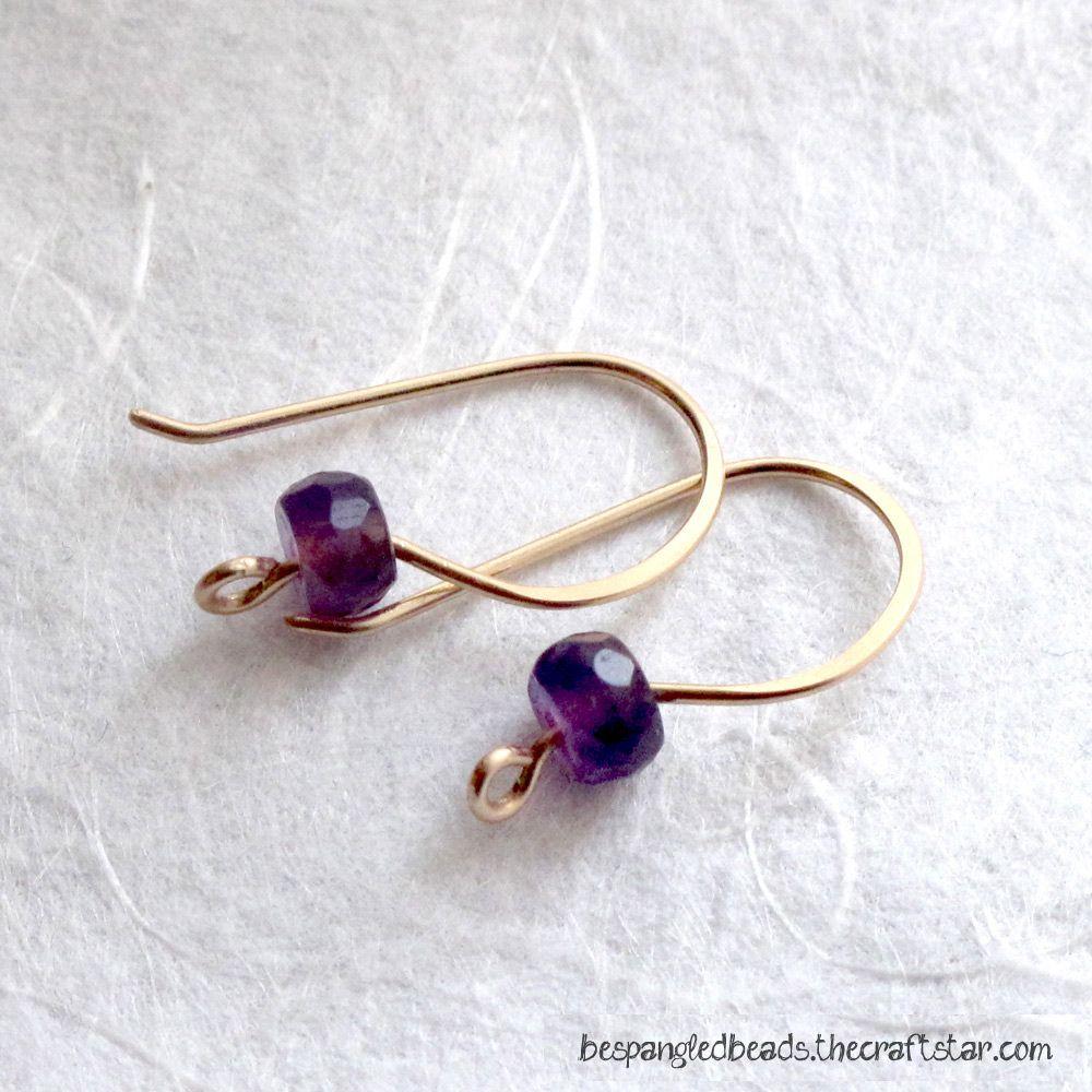 Handmade Earring Findings In Gold Or Silver, 22 Gauge Artisan Earwires