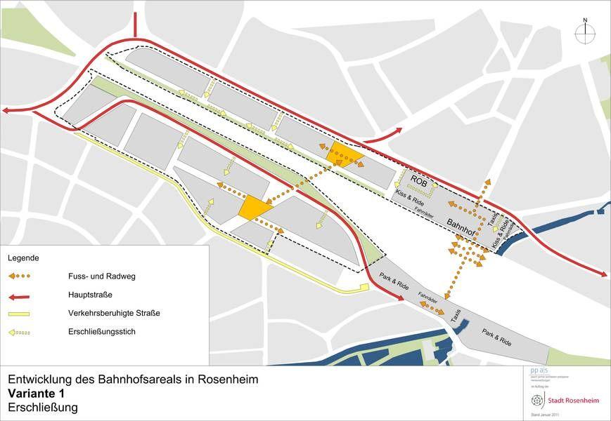 Erschliessungskonzept Rosenheim Erschliessung Konzept Planer