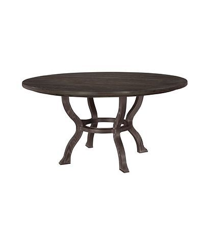 "anvers 60"" round table top and base from the atelier collection by"