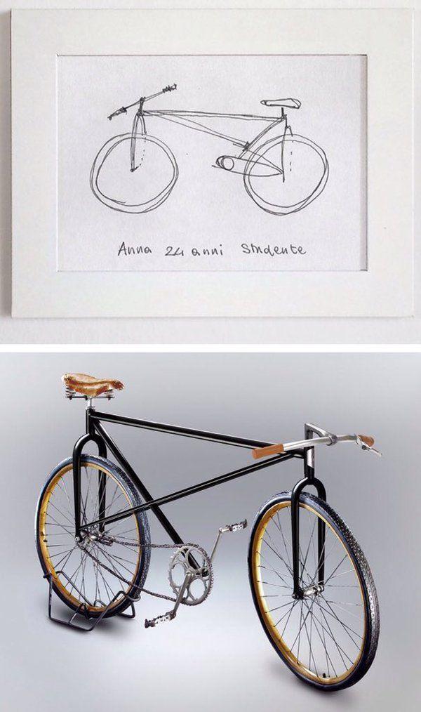 何も見ずに描いた自転車 絵の通りに設計し作ってみたらこうなった あまりの衝撃に笑いが止まらない人々 自転車 絵 自転車 笑いが止まらない