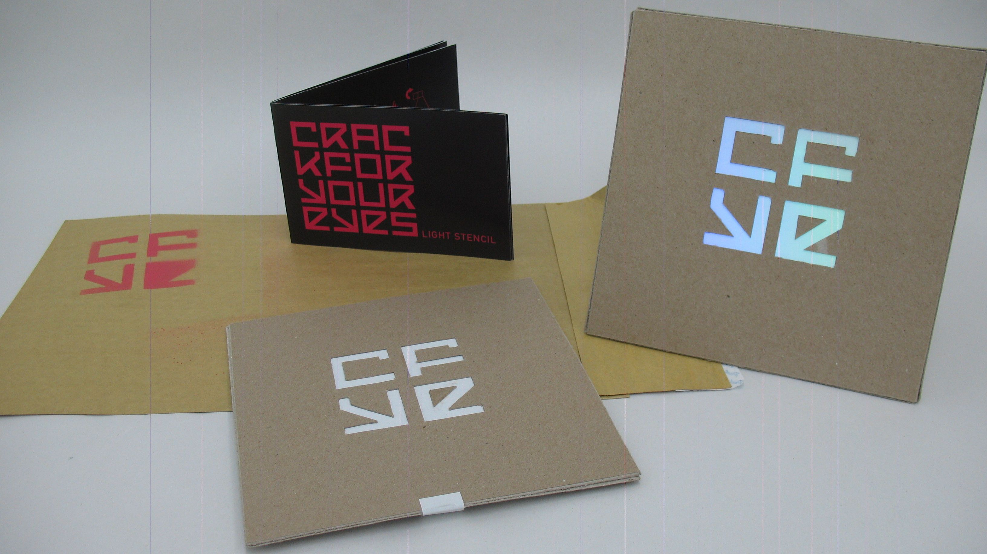 CFYE Light painting stencil and booklet by Dana Maltby aka TCB