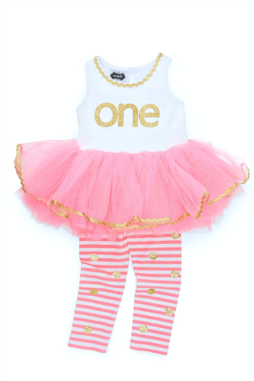 Mud Pie BabyGirls 1st Birthday Dress First Birthday