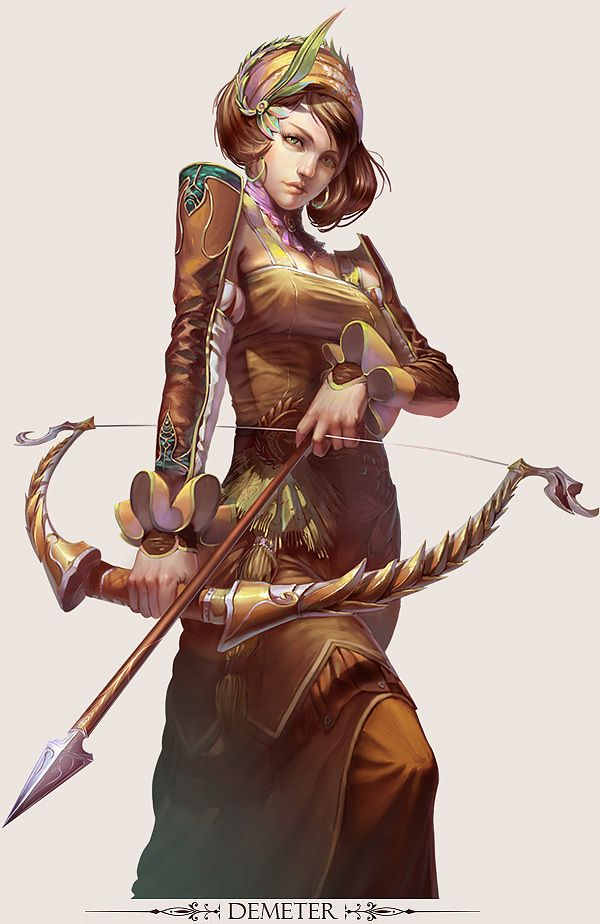 Game Design Character Art : Mmo game character design demeter by yuchenghong on