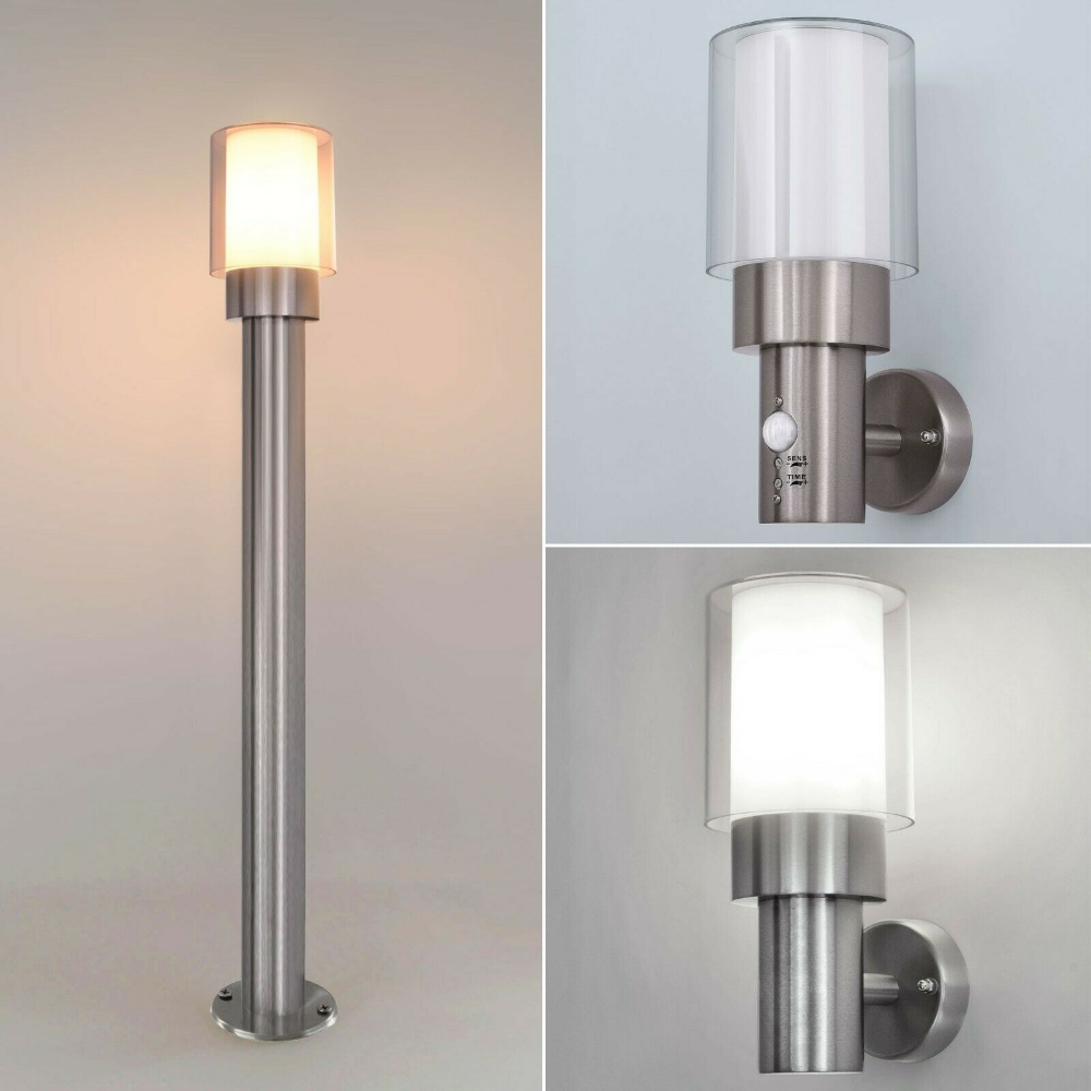 Aussenleuchte Wandleuchte Aussenlampe Bewegungsmelder Gartenlampe Lampe Edelstahl Ebay Gartenlampen Aussenlampe Aussenleuchten