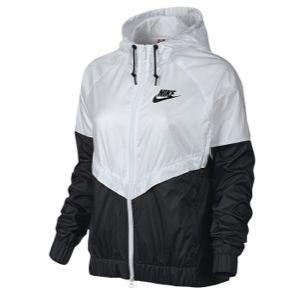 Black and white Nike Windbreaker   Nike