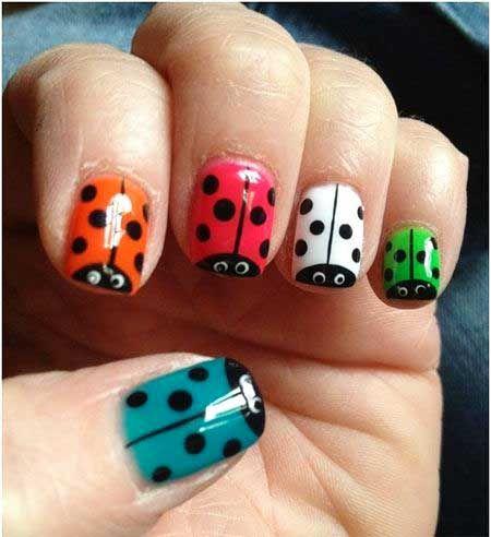 nail art ladybug kids' design  ladybug nails nail art