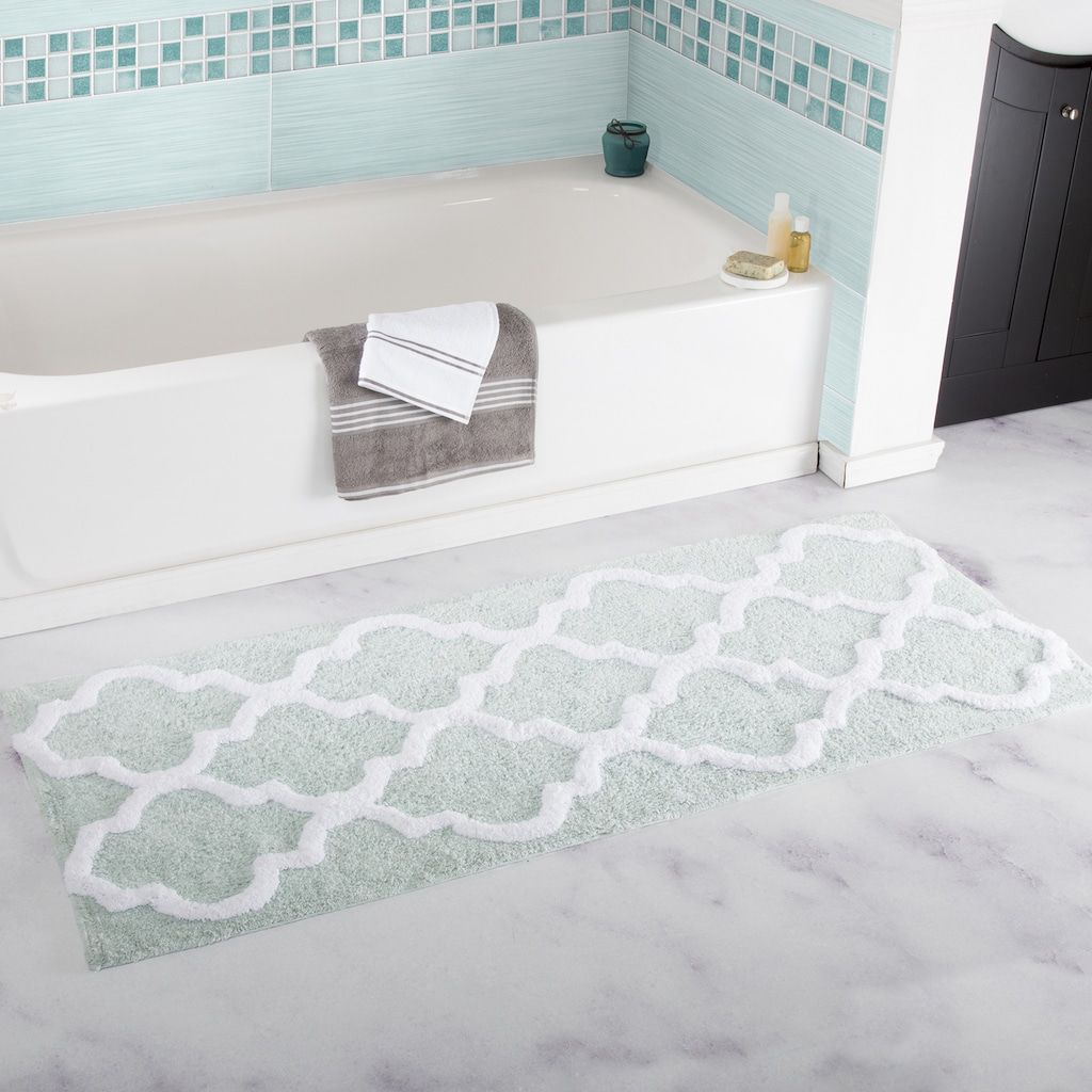 Portsmouth Home Trellis Bath Mat, Green