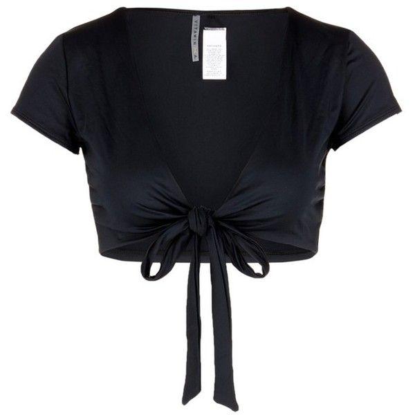 Vitamin A 'Ballerina' wrap swim top ($120) ❤ liked on