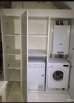 Afbeeldingsresultaat Voor Kast Voor Wasmachine En Droger Op