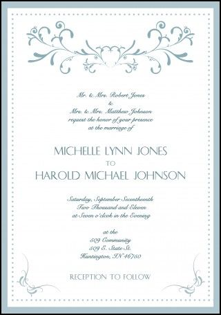 Formal Wedding Invitation Samples  Wedding Ideas