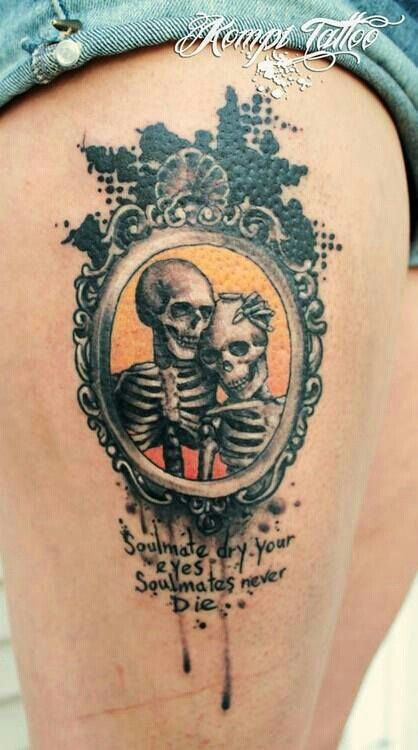 Soulmate Skulls Skull Tattoos Pinterest Tattoos Love Tattoos