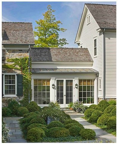 Gil schafer enclosed breezewayinspiration ideas for Detached sunroom