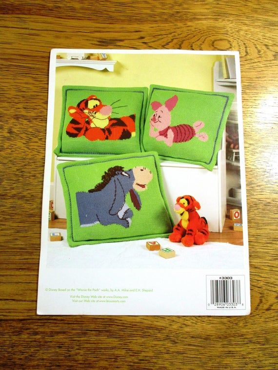 Winnie The Pooh Cuddle & Snooze Sets - Large Floor Pillow / Afghan Blanket (DISNEY Home) - DISNEY Knitting Pattern by Leisure Arts 6070
