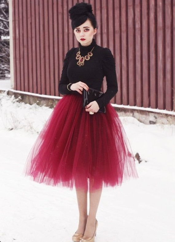 112807c54c Our women's tulle skirt has layers of burgundy wine tulle over a deep wine  satin skirt. You will feel special wearing this classic ballerina skirt.