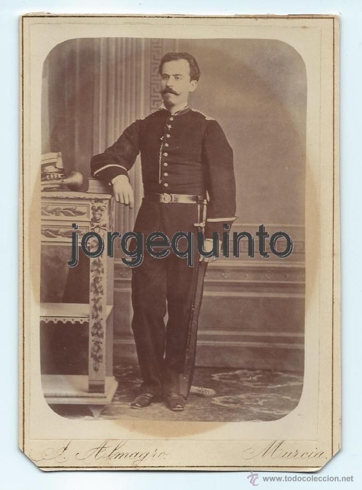Fotografía antigua: RETRATO. MILITAR. J.ALMAGRO. MURCIA. 10,9 X 15,3 CMS. - Foto 1 - 53948935
