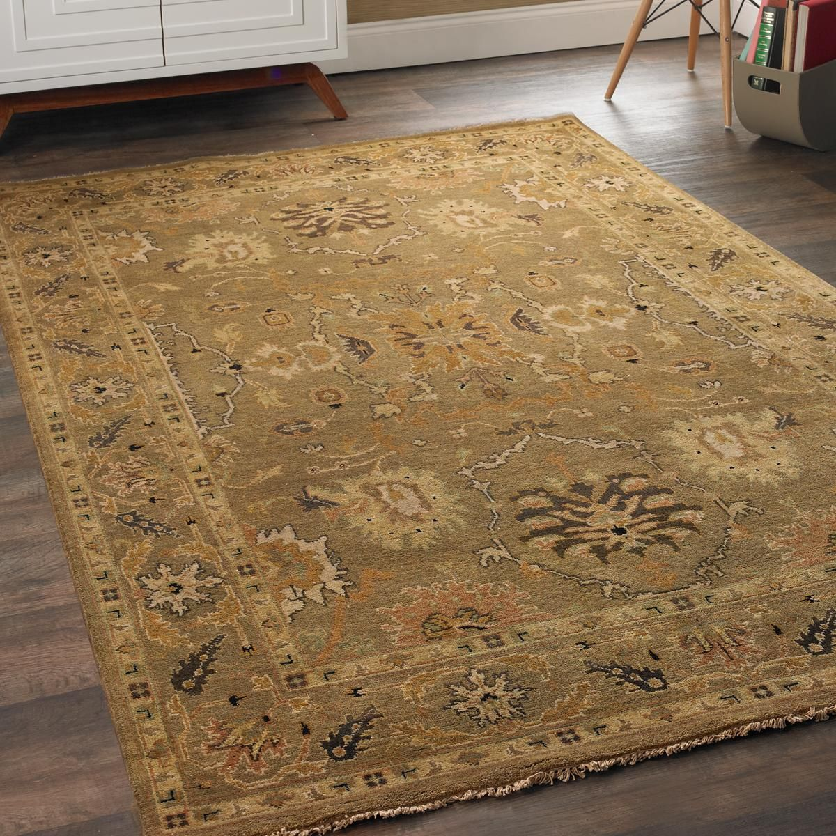 Earth Tone Oushak Rug Traditional Warm And Wool