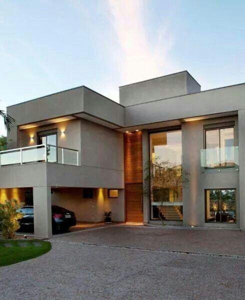 Casa com cor concreto. | Modern Houses | Architektur haus design ...