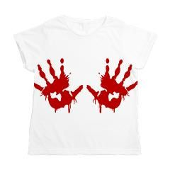 bloody hand prints Women's All Over Print T-Shirt > Blood Splatters > Just Another Shop of Stuff