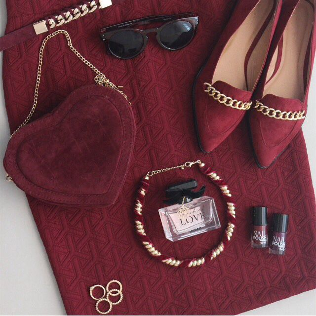 Elegant winter collection maroon colour
