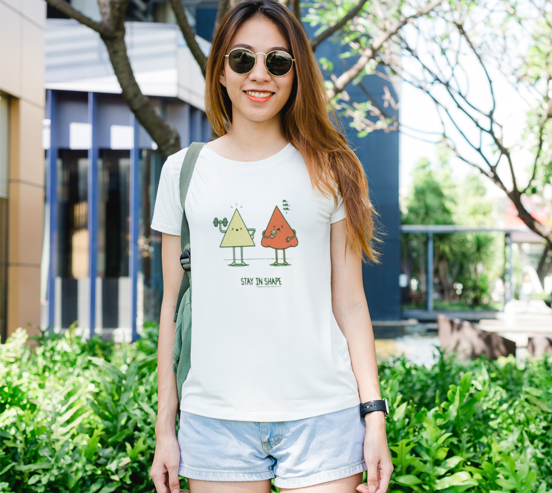Stay In Shape Women's Tee (B+C 6004) #catholicrosaries