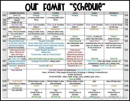 Schedule  Pic  Hojas Para Organizacion    Binder
