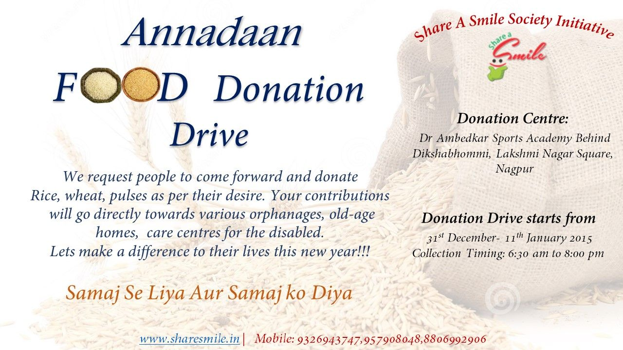 Food donation drive in Nagpur