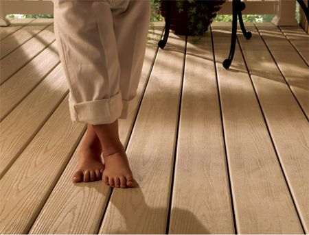 Slip Resistant Surface Attractive embossed wood grain anti-skid surface is slip resistant when wet or dry. Never Hot, Always comfortable to touch. Fire Resistant VEKAdeck™ self extinguishes in the event of fire. Water Resistant VEKAdeck™ will not absorb moisture making it ideal for high humidity and marine environments such as boat docks and pools. Low-Maintence Never needs painting or sealing