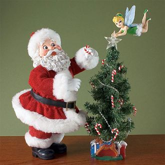 tinkerbell christmas decorations | Our Products >> Santa and Tink Decorate