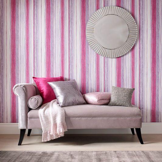 Chelsea Stripe Fuchsia Wallpaper | Graham & Brown UK | Graham ...