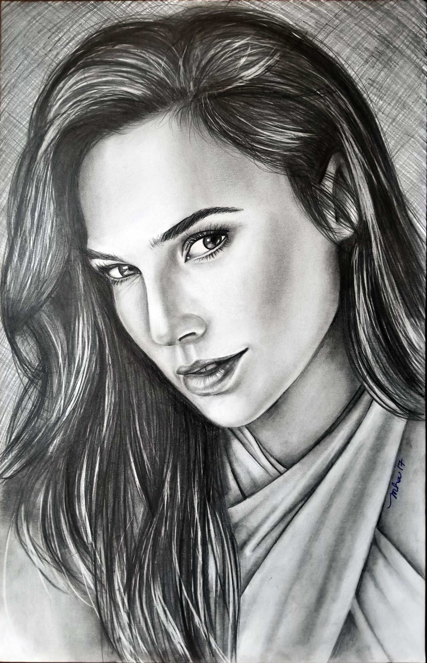 Gal gadot pencil drawing