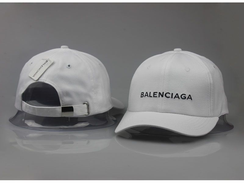 d16abb937877 Men s   Women s Balenciaga Classic Balenciaga Embroidered Logo Baseball Hat  - White   Black