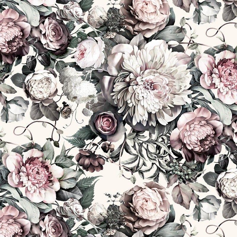 Dark Floral II Light Wallpaper (With images) Floral