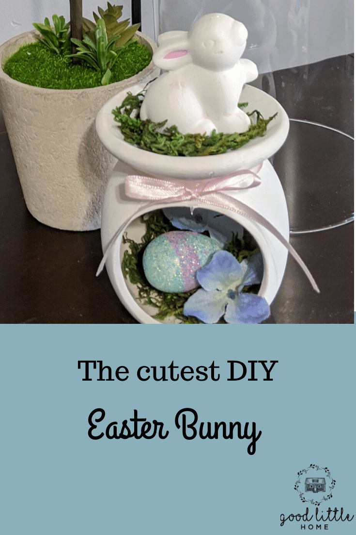 How To Make The Cutest Wax Warmer Bunny For Your Easter Mantel In 2021 Dollar Tree Easter Crafts Dollar Tree Easter Decor Cheap Easter Decorations