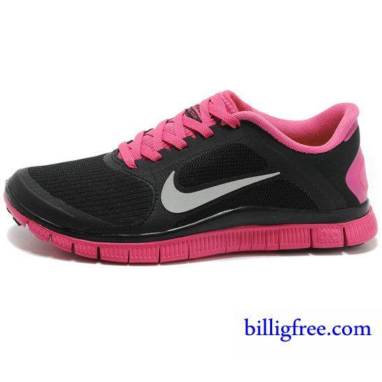 Billig Schuhe Damen Nike Free 4.0 V3 (Farbe:Vamp schwarz