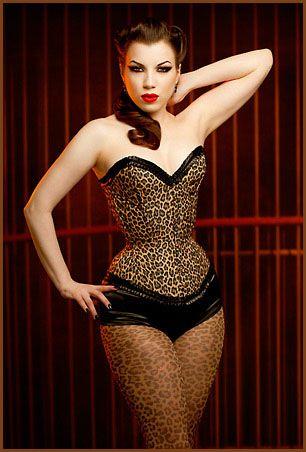 13c451c2b4 Lady Lucie Latex leopard-print over-bust corset  corset