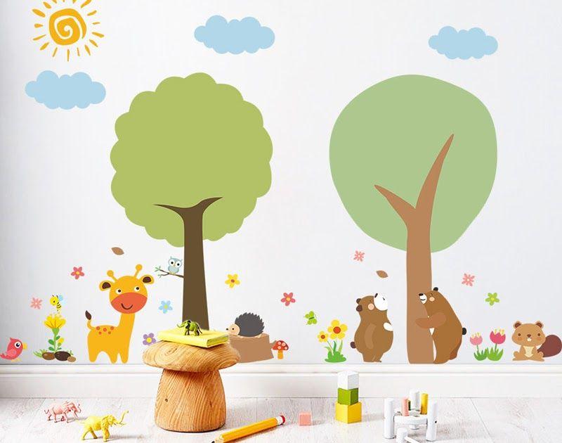 Hewan Hutan Bunga Matahari Kartun Pohon Stiker Dinding Untuk Download 47 Gambar Kartun Rumah Desa Hd Terbaru Gambar Ruma Di 2020 Decal Dinding Kartun Stiker Dinding