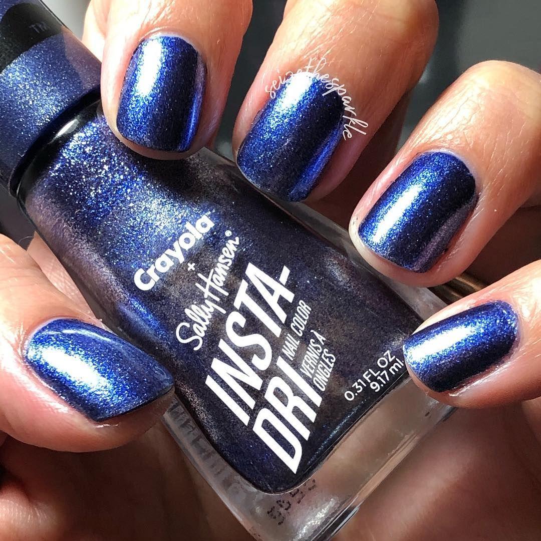 Sally Hansen Insta Dri Crayola Glam Rock B Dazzled Blue Sally