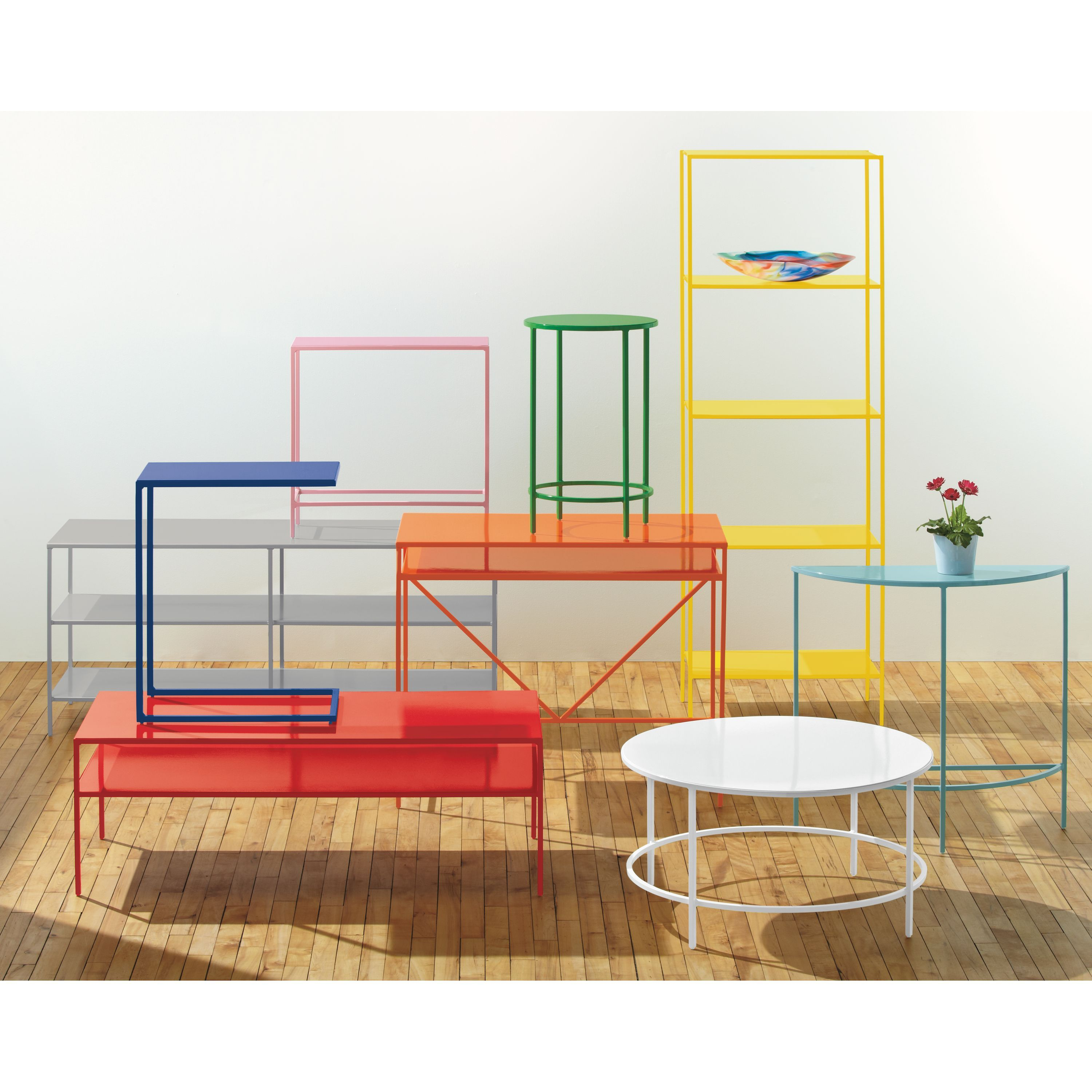 Slim End Tables In Colors Modern End Tables Modern Living Room Furniture Room Board Slim Console Table Slim Bookcase Modern Furniture Living Room Room and board side table
