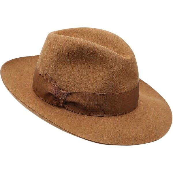 Orange fedora hat Borsalino