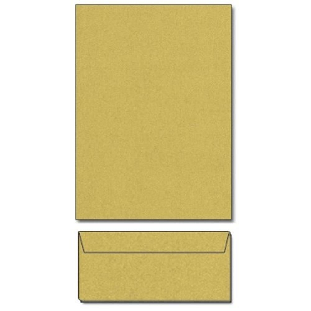 Super Gold Metallic Letterhead Sheets And Matching Envelopes