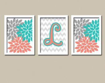 Decorating With Gray Coral And Teal Google Search