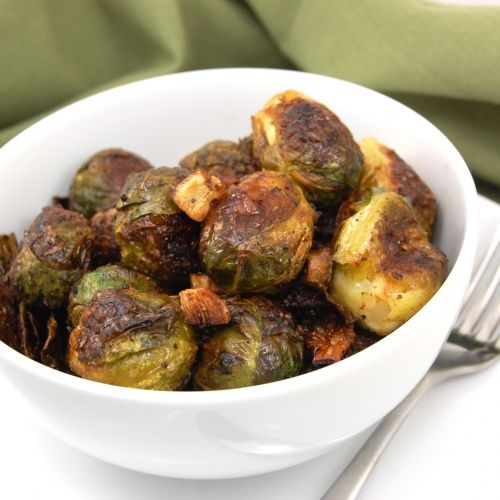 Roasted Garlic Brussels Sprouts