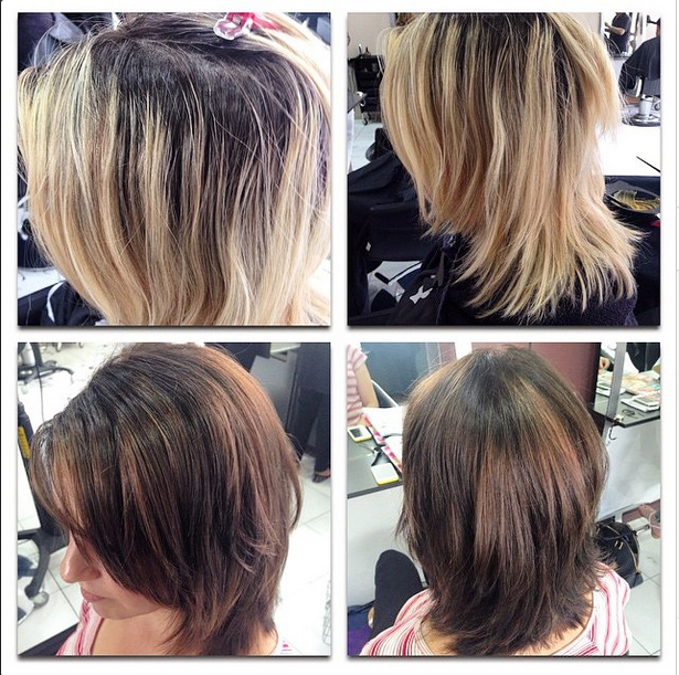 Beautiful colour correction and makeover from Aimee at the #Parramatta salon! Get rid of that brassy blonde with our team of colour experts! #hairbyphd #hairdresser #carlingford #sydney #hairstyle #colourcorrection #makeover #hairdo #hair #brunette #blonde